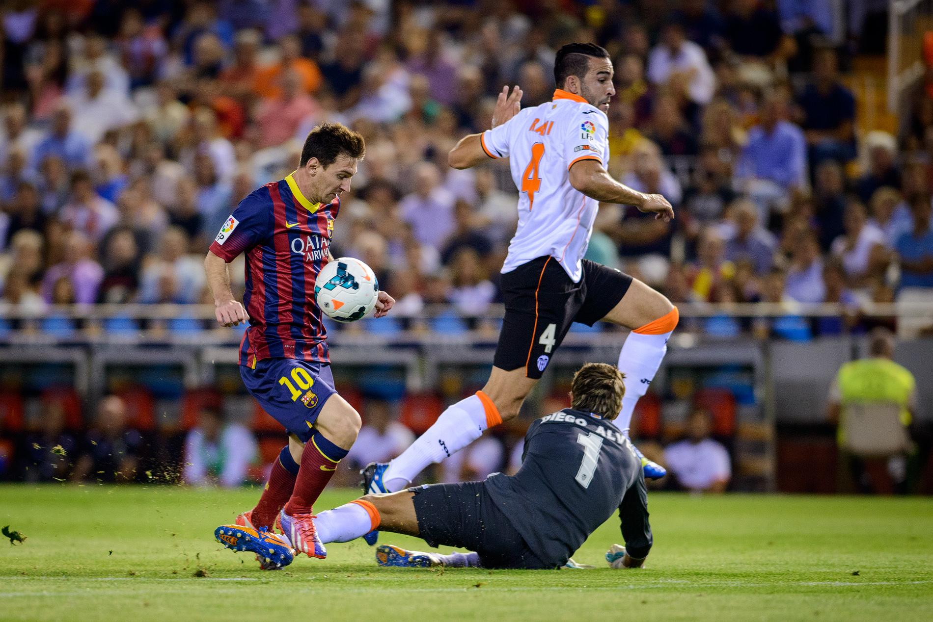Leo Messi FCB vs Valencia CF en Mestalla